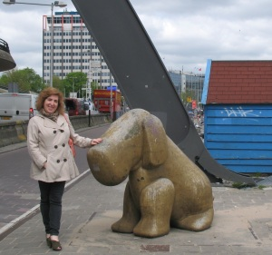 A photo of me behind Amsterdam's Centraal Station, June 2013