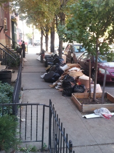 The entire contents of an apartment left at the curb