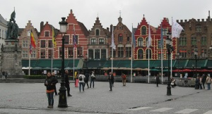 Brugge town square