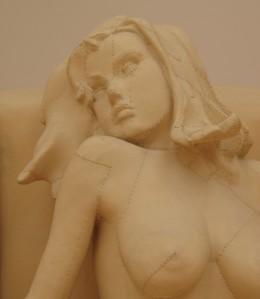 Detail - stitched sculpture