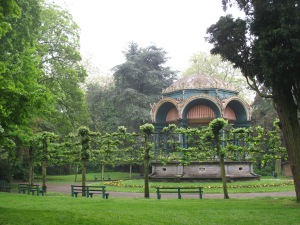 Cuppola style gazebo in Gent. Around the corner in this park is SMAK, the contemporary art museum.