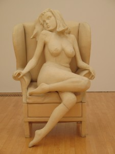 Stitched sculpture of a woman - SMAK Contemporary Art