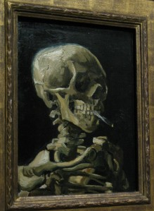 The original rock and roll smoking skeleton? Maybe. It's a Van Gogh.