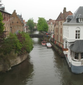 The view from my overpriced tourist hotel room in Brugge, phenonemal view
