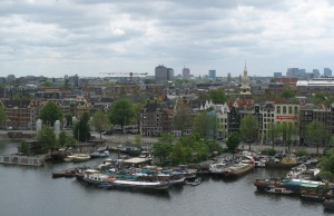 View from top floor of the Amsterdam library