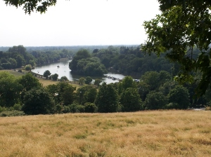 A view of the bend in the Thames River from the top of Richmond Hill