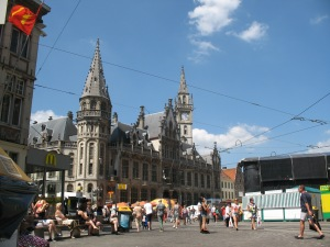 A view of another part of the historic city center, Gent Belgium