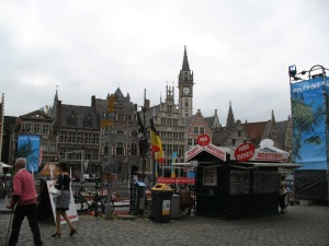 The city prepares to be over-run with tourists during the Gent Festival