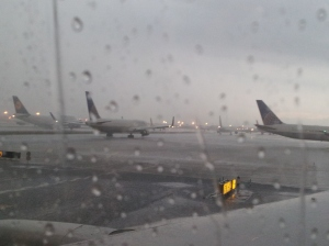 Planes on the tarmac at Newark airport 7-28-13