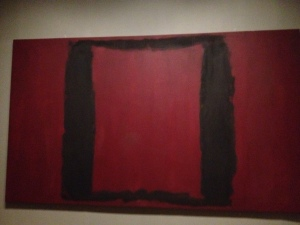 Rothko Seagram Mural (1 of 7) - black box on red background