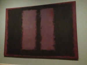 Rothko Seagram Murals - purple background and black boxes
