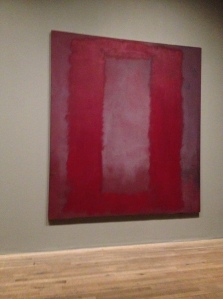 Rothko Seagrams Mural - Red Box Purple Background
