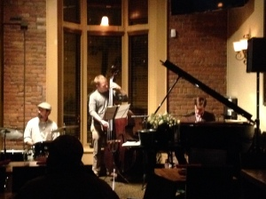 Jazz Jam JC - the guys I know: Jordon on piano and Noel on drums, cool cats both!