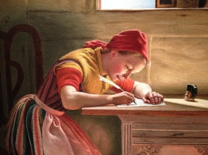 Christen Dalsgaard - DETAIL - Young Girl Writing