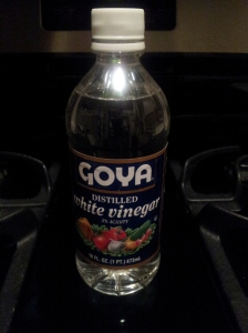 Goya Distilled White Vinegar - a top secret ingredient