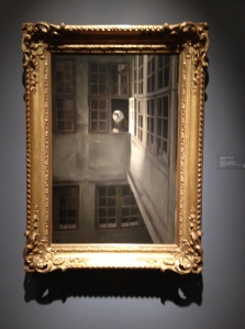 Hammershoi Courtyard Interior - full painting