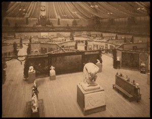 Original 1913 Armory Show set up