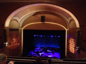 Lovely view of the State Theater stage before the show
