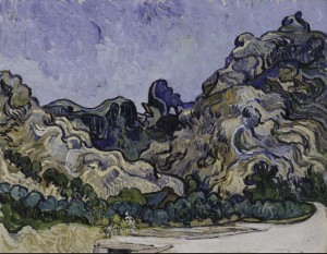 Van Gogh - Mountains at St. Remy - 1889