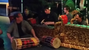 Drumming at Bali percussion