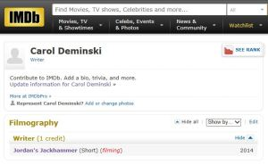 My first IMDB Film Credit!