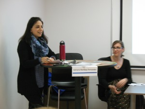 Our panel moderator, Adriana Rambay Fernandez