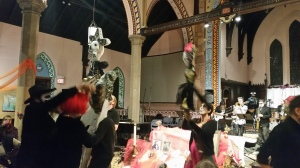 People dancing, puppets flying and everyone having a blast!