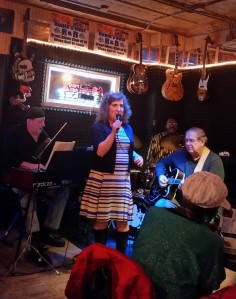 Me singing St. Louis Blues at a jazz jam. 12-7-14