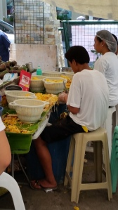Workers peeling jackfruit at the Salcedo Saturday market in Makati