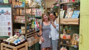 When I haggled with this soap vendor, she was so charming! She got excited when she found out I was an American from New York City, USA, and traveling alone no less! She insisted we take our picture together. It was a terrific experience!