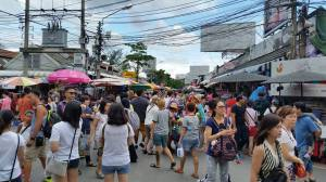 If you go on Sunday in the middle of the day, be prepared for large crowds at Chatachak Weekend Market!